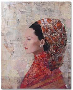 Female portrait, Painting by Richard Burlet Richard Burlet, Neo Rauch, World Famous Artists, Art Moderne, Claude Monet, French Artists, Pablo Picasso, Art Plastique, Portrait Art