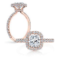 Dina-Twin-Set-Rose-Gold-Cushion-Cut-Diamond-Engagement-Ring-Jean-Dousset