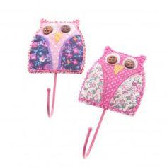 Sass & Belle Mix & Match Fabric Owl Wall Hooks