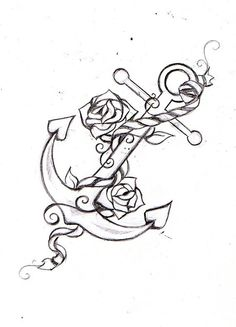 anchor tattoo, with color and USN around it somewhere.
