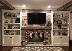 35 Awesome Farmhouse Fireplace Design Ideas To Beautify Your Living Room. Awesome Farmhouse Fireplace Design Ideas To Beautify Your Living Room Chimney presumably has a place with one of vital things to set in any house insides. On the off chance […] Fireplace Bookshelves, Fake Fireplace, Fireplace Built Ins, Farmhouse Fireplace, Fireplace Remodel, Fireplace Design, Fireplace Wall, Fireplace Ideas, Fireplace Candles