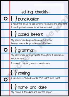 self editing essay checklist If the essay contains little persuasive language, circle 10 nouns, verbs, or adjectives that you think could be changed for stronger  peer editing checklist .
