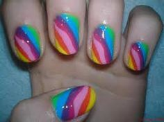 If putting different colors on the nails is your kind of stuff, here is dedicating today's post that showcases 40 rainbow nail art ideas that would help Colourful Acrylic Nails, Colorful Nail Designs, Toe Nail Designs, Nail Polish Designs, Funky Nails, Love Nails, Pretty Nails, Rainbow Nail Art, Rainbow Swirl
