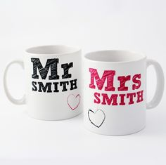 have your morning cuppa in your new Mr & Mrs mugs!