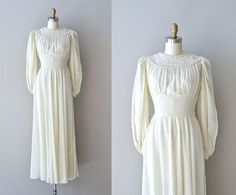 Jeanvieve wedding dress • vintage 1940s wedding dress • long sleeve 40s wedding gown