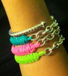 CHIC.CLASSY.CHEAP: DIY Tutorial: Cobra Stitch Lanyard Bracelet with Chain