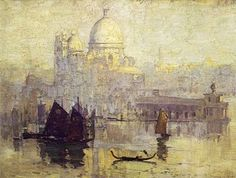 Sunrise on Santa Maria della Salute 1908 by Arthur Streeton (1867-1943)
