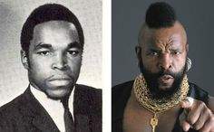 Mr. T, then & now. He was so cute before the mohawk!!