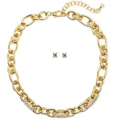 Chunky Pave Gold Chain Necklace   Heirloom Finds Jewelry.