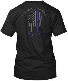 Real Warriors Bleed Blue ~ Law enforcement tee.