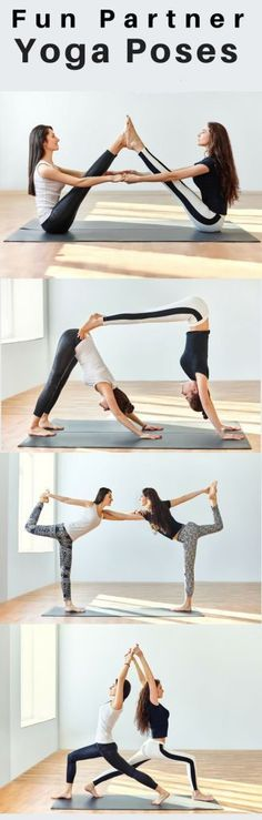 Fun Yoga Partner in different poses. #yoga #fitness #healthy