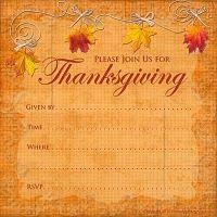 printable Thanksgiving invitation