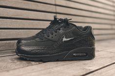 NIKE WMNS AIR MAX 90 (TRIPLE BLACK CROC) | Sneaker Freaker
