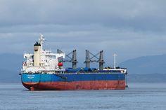 Cargo Ship, Port of Astoria, Oregon. Photo by Chris Crowder