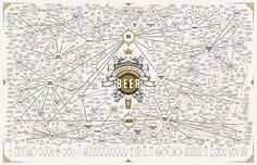 The Taxonomy Of Brewing: 500 Beers On One Ridiculous Chart