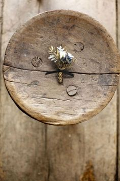 Wedding Ideas: wood-gold-rustic-boutonniere-elegant-diy-how-to-white