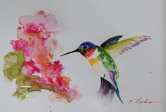 """Watercolorist Vickie Nelson was one of the winners of our recent Zeta Series giveaway. She tested the new sketchbook with this vivid drawing of a hummingbird. Vickie writes, """"After a lifetime of pa..."""