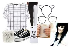 """""""10 fact tag"""" by paniceverywhere ❤ liked on Polyvore featuring Myne, Converse, Linda Farrow and LAUREN MOSHI"""