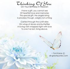 birthday wish for Mom in heaven | Birthdays In Heaven - Thinking Of You On Your Birthday In Heaven