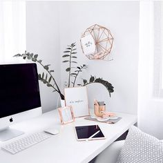 Feminine and simple rose gold decor