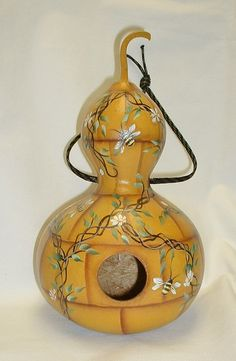 Beehive Gourd Birdhouse Hand Painted Gourd by FromGramsHouse, $28.00