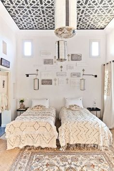 Moroccan decor...would be cute for a shared girls room