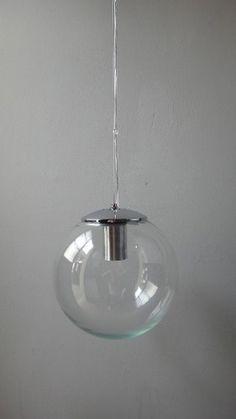 colgante globo de vidrio (diam.25) apto lampara bajo consumo