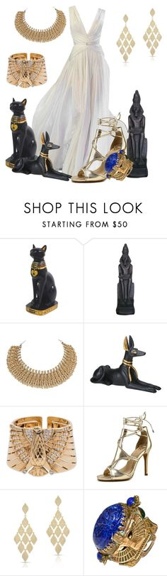 """Egyptian Style Inspired"" by hestiarocks ❤ liked on Polyvore featuring Elie Saab, Cartier, Vince Camuto and Anne Sisteron"