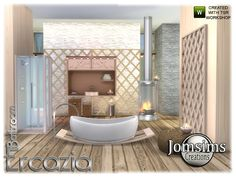 Sims 4 CC's - The Best: Ercazia bathroom by Jomsims