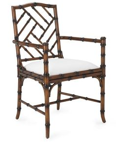 Love these Williams Sonoma Brighton Bamboo Armchairs