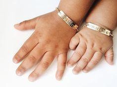 Personalized Baby Bracelet Gold Baby Bracelet by LEILAjewelryshop Boys Bracelets, Flower Girl Bracelets, Baby Jewelry, Girls Jewelry, Personalized Baby, Personalized Jewelry, Junior Bridesmaid Gifts, Baby Bracelet, Gold Plated Bracelets