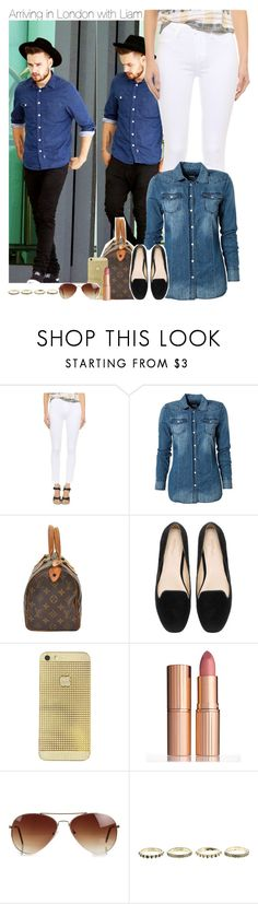 """""""Arriving in London with Liam"""" by perfectharry ❤ liked on Polyvore featuring Payne, Paige Denim, Replay, Zara, Charlotte Tilbury and Rut&Circle"""