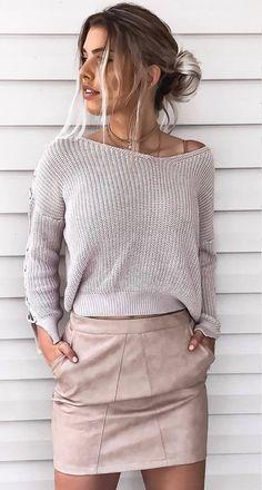 knit + skirt #omgoutfitideas #styleblogger #styleoftheday
