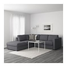 IKEA - VIMLE, Sectional, corner, Farsta dark brown, This soft and cozy sofa will have a long life as the seat cushions are filled with high resilience foam that gives good support for your body and quickly regains its original shape when you get up. At Home Furniture Store, Modern Home Furniture, Bedroom Furniture, Furniture Sale, Bedroom Sofa, Sofa Bed, Furniture Design, Grey Sectional Sofa, Leather Sectional