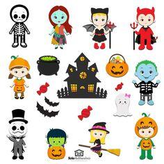 Halloween Jelly, Moldes Halloween, Halloween Bunting, Halloween 2018, Fall Halloween, Halloween Ideas, Halloween Quotes, Lettering Design, Paper Dolls