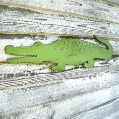Gator Alligator Large Scale Preppy Wall Decor Zoo Jungle Wall Art Florida. $79.00, via Etsy.