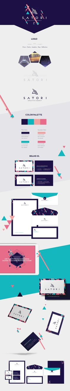 Branding for Satori: Beautiful work. Love the gorgeous and vibrant colour palette and the modern stationery and website. Design Web, Logo Design, Design Poster, Brand Identity Design, Graphic Design Branding, Branding Agency, Business Branding, Logo Branding, Corporate Design