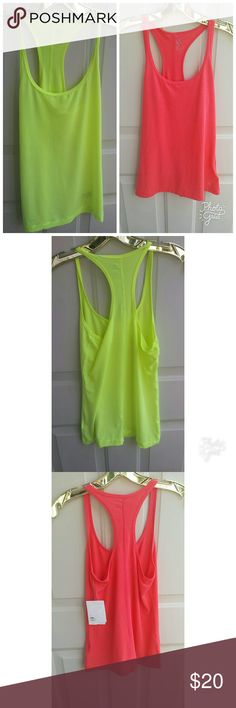 2 pack GAP FIT Breathe shirt 💛Neon yellow workout tank  💖Neon pink workout tank GAP Other