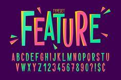Illustration about Trendy comical condensed font design, colorful alphabet, typeface. Illustration of letters, hipster, comics - 119559640 Slab Serif Fonts, Cursive Fonts, Typography Fonts, Creative Typography, Graffiti Lettering, Modern Typography, Vintage Typography, Great Fonts, Cool Fonts