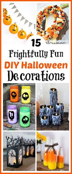 Halloween Decor and Treat Ideas Halloween ideas, Scrapbook paper - fun homemade halloween decorations