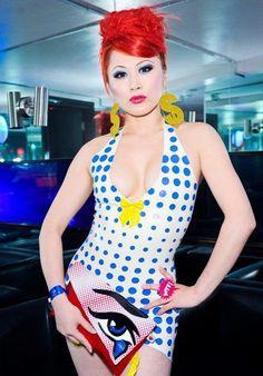 Latex Rubber POP Art dress by Kaorimg on Etsy, $400.00