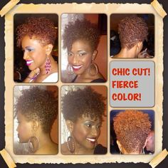 Love the color #natural hair #short hair #TWA. To learn how to grow your hair longer click here - http://blackhair.cc/1jSY2ux