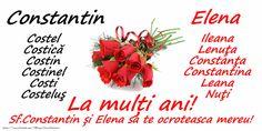 Felicitari de Sfintii Constantin si Elena - La multi ani Elena! - mesajeurarifelicitari.com Sf Constantin, Fruit, Facebook, Plants