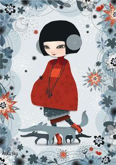 Bien AiméesPostcard -La Marelle Editions2007