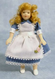 12th Scale Dolls House Girl in Alice Dress DP161 | Hobbies | Streets Ahead