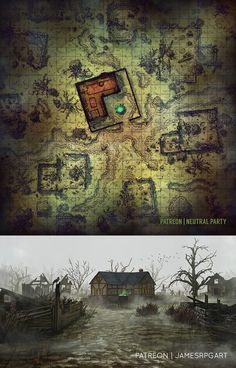 Witch's Ruins- a Collaboration with James' RPG Art : battlemaps Dungeons And Dragons Homebrew, D&d Dungeons And Dragons, Fantasy Battle, Medieval Fantasy, Ancient Ruins, Mayan Ruins, Animal Crossing Paths, Cthulhu, Dnd World Map