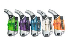 New Windproof Flame Jet Torch Lighter Butane Gas Refillable For Cigar Cigarette