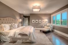 Like wall color and contrast with trim and bedding.