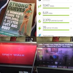 "Got my activity in today! I bought this book to try and help me develop a strength training routine. I did the first workout which I was able to do at home which was nice. Also wanted to get in some cardio so I attempted to do the Jessica Smith ""spicy"" Latin walk but halfway through I just wasn't feeling it. I switched to the 1 mile turkey trot walk which was good! Got in 30 min of cardio total which I was happy about! I did some extra walking in place at home and was doing a lot of moving…"