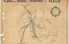 Mapa das divisas de Mauá 1968